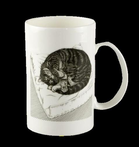"""porcelāna krūze """"Kaķis uz spilvena"""""""