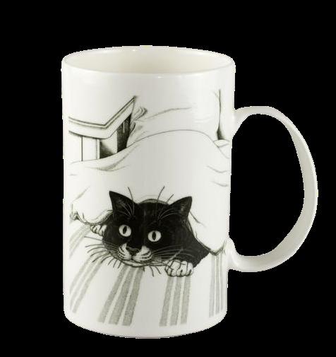 "porcelāna krūze ""Kaķis zem spilvena"""