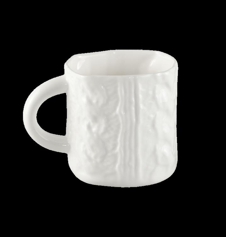Porcelāna adīta kafijas krūze