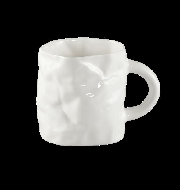 Porcelāna burzītā kafijas krūze