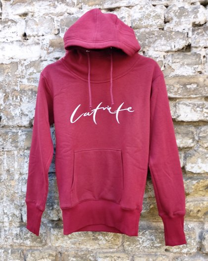 Hoodie Latvian - red for woman