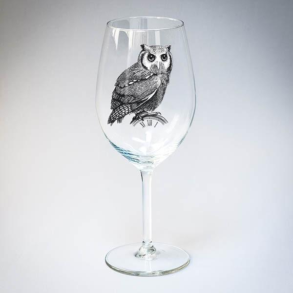 """Бокал для вина """"Сова"""""""