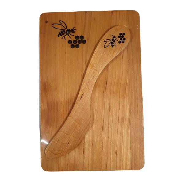 """Деревянная доска с ножом для масла """"Bite"""""""