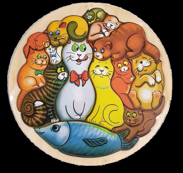 Koka puzle Kaķi