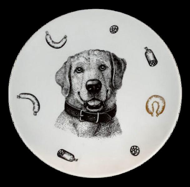 """Šķīvis """"Suns"""" (ar zeltu)"""