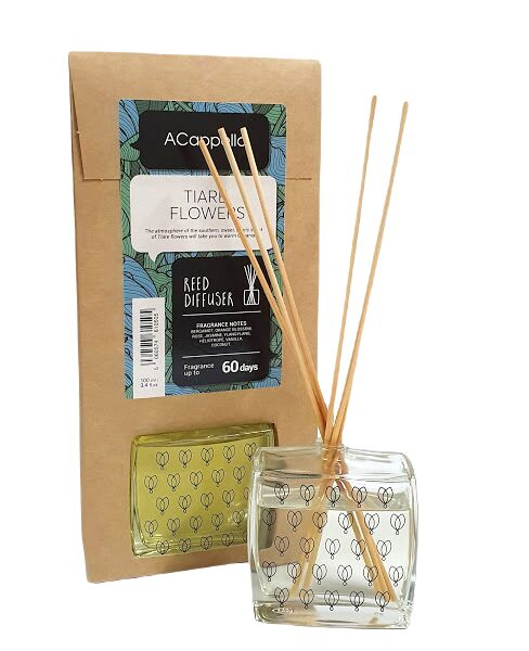 Home fragrance TIARE FLOWERS with bamboo sticks, 100ml