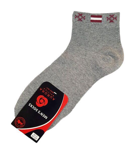 """Men's socks """"Flag"""" (gray) AVZ2"""