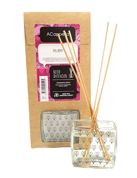 Home fragrance RUBY with bamboo sticks, 100ml