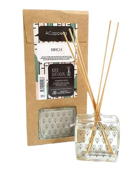 Home fragrance BIRCH with bamboo sticks, 100ml