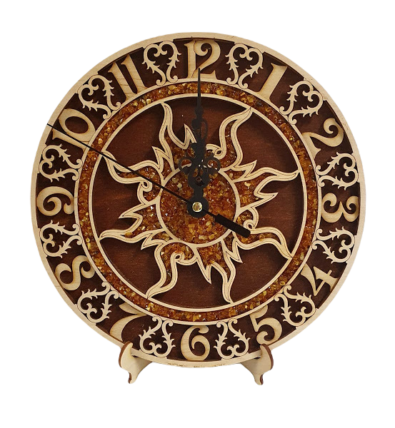 Wall clock made of wood '