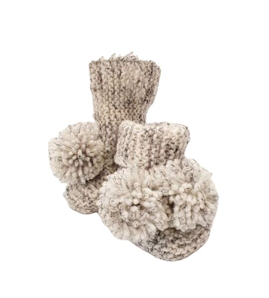 Knitted booties for baby ZMK4