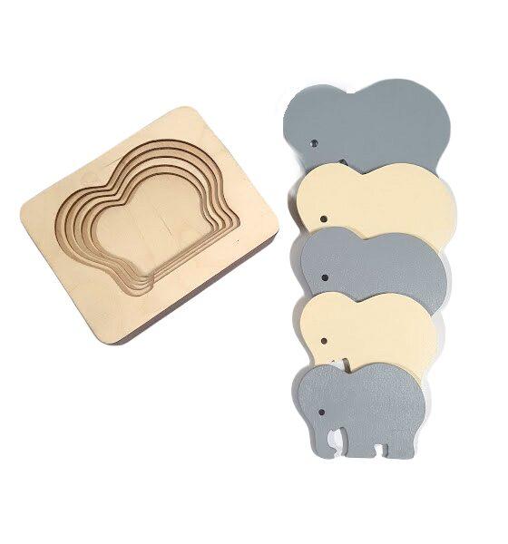 Koka puzle Ziloņi
