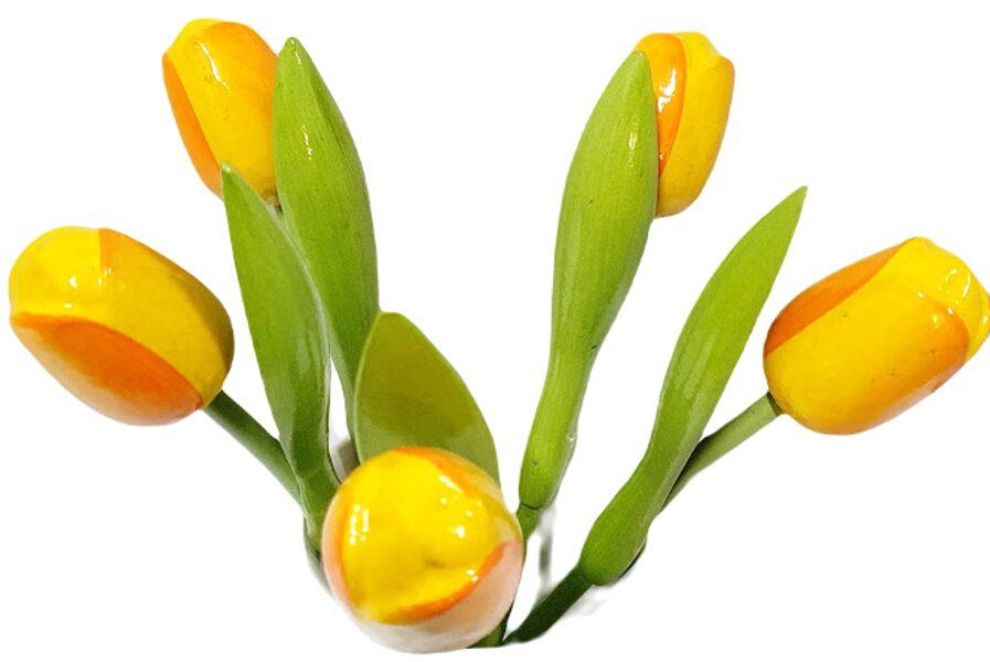 Wooden tulip LKT3 (yellow / orange)