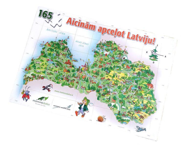 """Puzle """"Aicinām apceļot Latviju"""""""